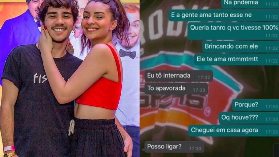João Fernandes mostra troca de mensagens com Mabel Calzolari