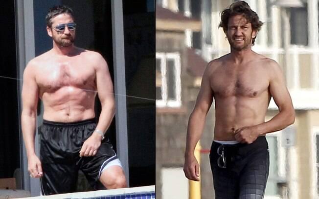Antes e depois: O ator em 2006, quando fez o filme