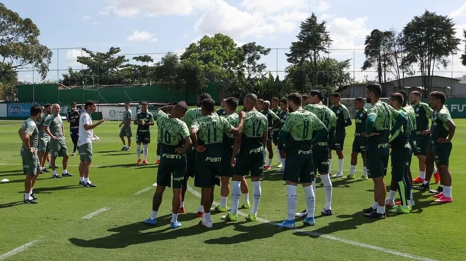 Treino do Palmeiras tem retorno de Abel Ferreira
