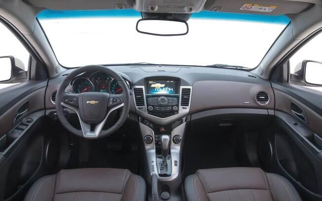Interior do Chevrolet Cruze
