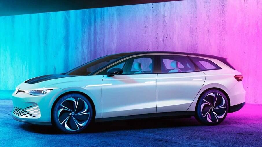 Conceito Space Vizzion antecipou a futura perua elétrica da Volkswagen; produção foi confirmada no ano passado