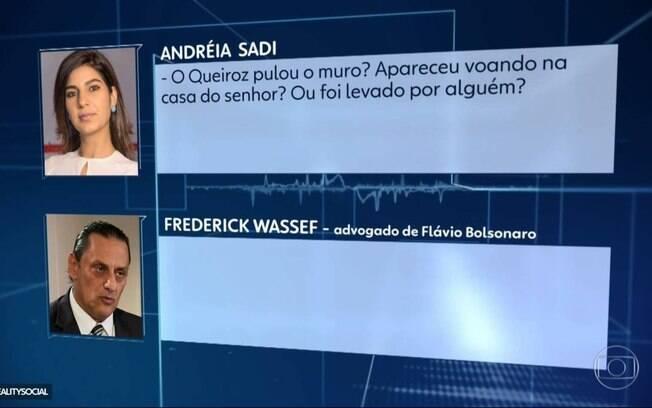 Andréia Sadi entrevistou Frederick Wassef, advogado do senador Flávio Bolsonaro (Republicanos-RJ)