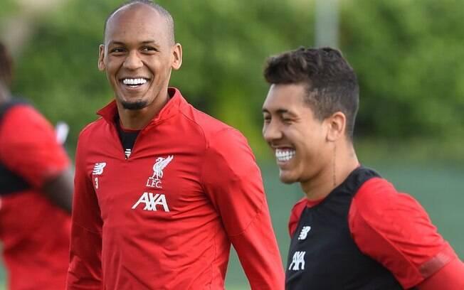 Fabinho e Roberto Firmino, brasileiros do Liverpool