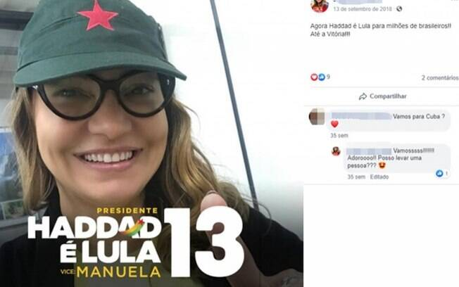 Namorada de Lula fez campanha por Haddad nas redes sociais