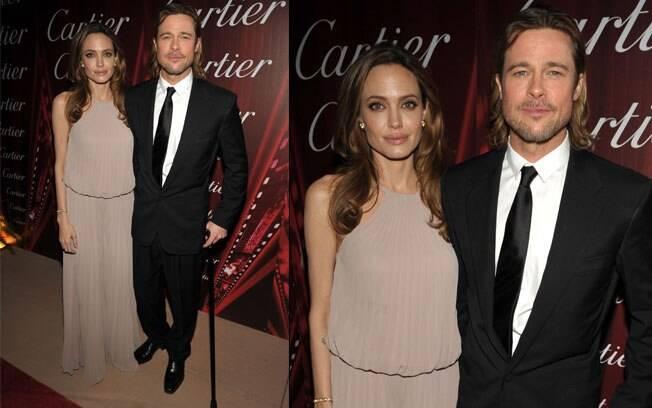 Brad Pitt com a mulher Angelina Jolie