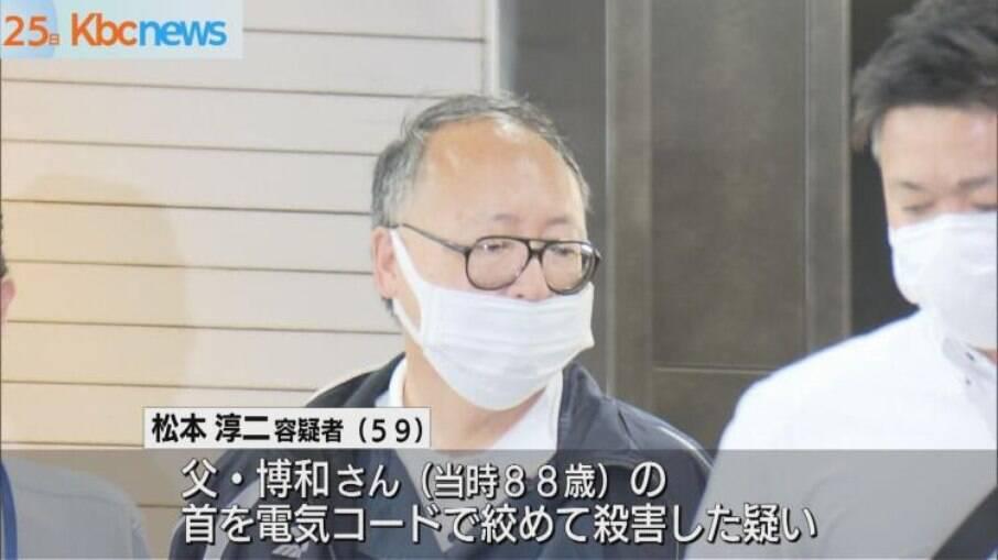 Junji Matsumoto ao ser preso no Japão