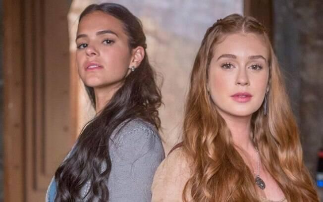 Bruna Marquezine (Catarina) e Marina Ruy Barbosa (Amália) foram destaques negativos e cansativos em