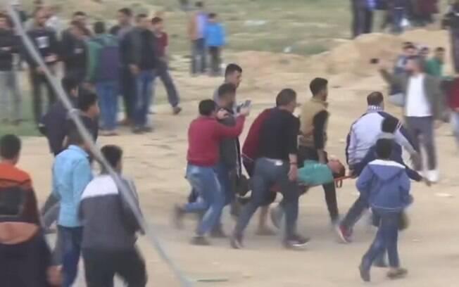 """Chamado """"Marcha do Retorno"""", ato teve início a última sexta-feira (foto) na Faixa de Gaza e deve durar mais seis semanas"""