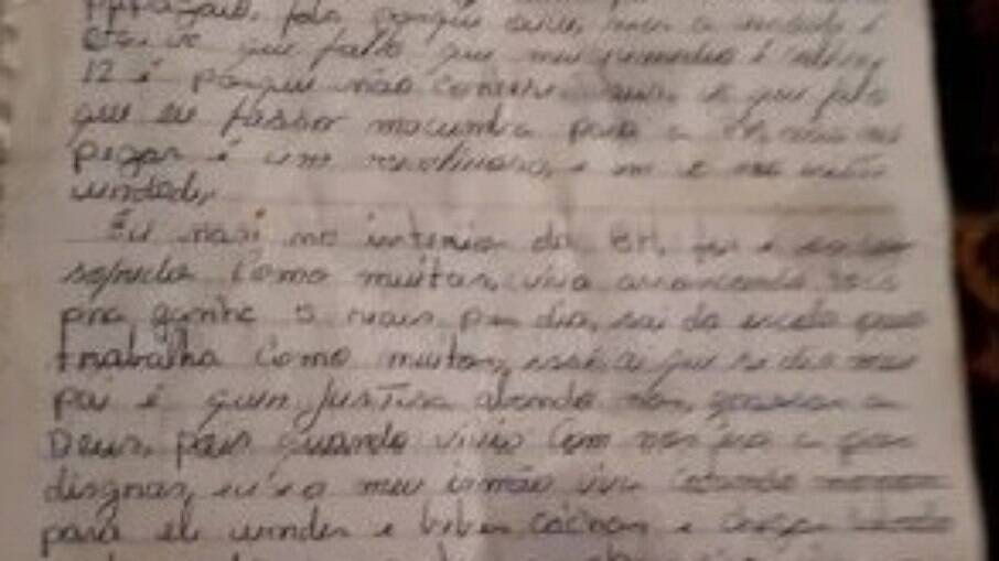 Carta entregue à Polícia de Goiás teria sido escrita por lázaro