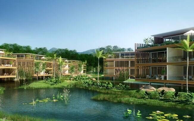 O projeto de revitalização do hotel Frade, em Angra dos Reis, incluiu a criação de diversas vilas. A da foto tem residências de 250 m²