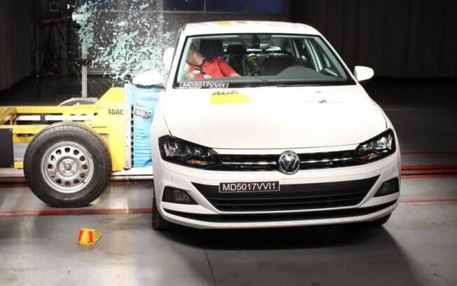 A nota do Volkswagen Virtus já era esperada, já que tem a mesma plataforma do Polo, quem também ganhou 5 estrelas