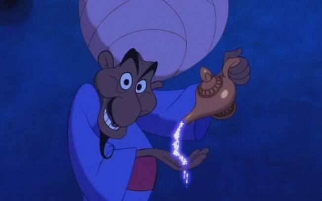 Aladdin é só uma história inventada por um comerciante que quer vender uma lâmpada