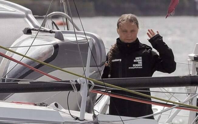 A ativista ambiental Greta Thunberg vai atravessar o oceano Atlântico em veleiro sustentável