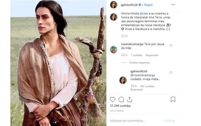Gloria Pires defende Cleo nas redes sociais