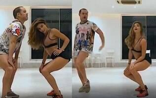 Grazi Massafera rebola ao som de Faz Gostoso, música de Madonna com Anitta