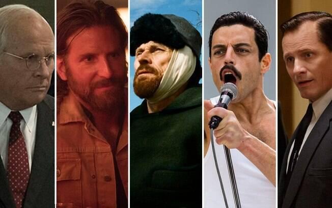 Christian Bale, Bradley Cooper, Willem Dafoe, Rami Malek e Viggo Mortensen disputam o Oscar de Melhor Ator em 2019