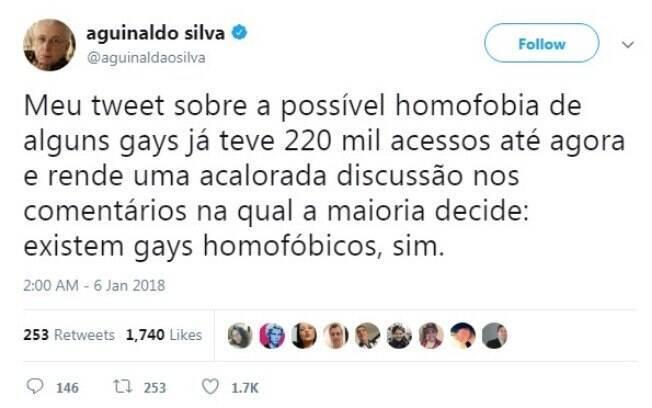 Agnaldo Silva rebate polêmica sobre homofobia