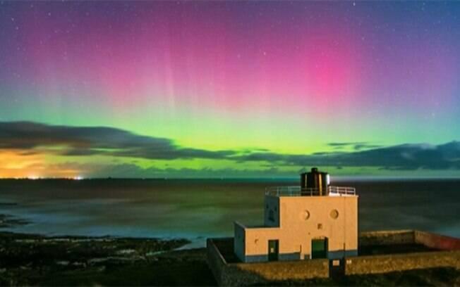 Aurora boreal fui captada no norte da Inglaterra por amante das estrelas