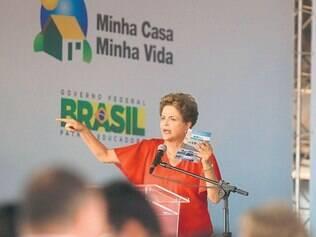 Promessa. Em Araguari, Dilma Rousseff fez um discurso otimista e voltado para a garantia dos empregos e dos programas sociais