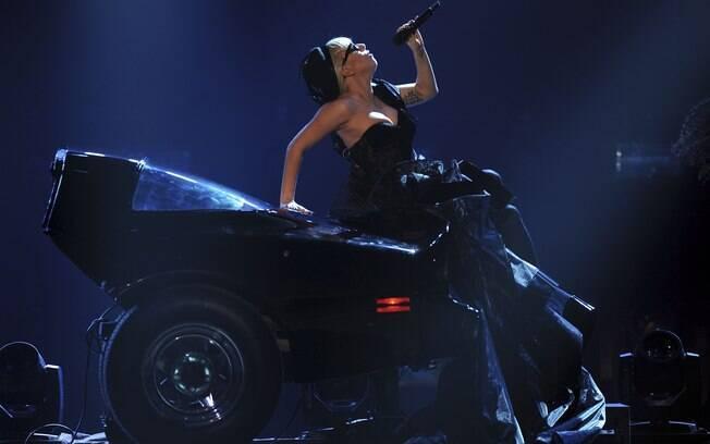 Lady Gaga canta no evento, realizado na cidade de Wiesbaden