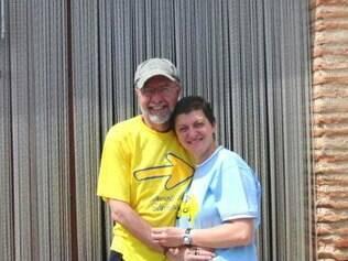 O casal Acácio e Orietta se conheceu no caminho e hoje mantém uma hospedaria