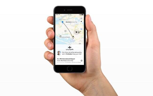 Por meio de um aplicativo similiar ao Uber, você vai poder reservar o seu Lillium