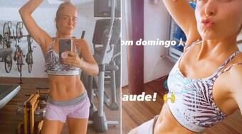 Angélica publica fotos após malhar