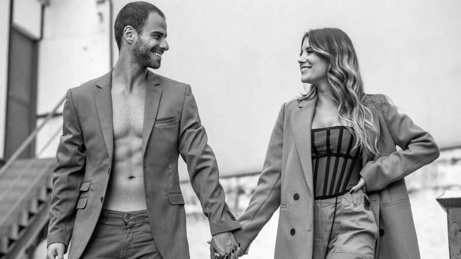 Lucas Malvacini e Laura Alvarenga