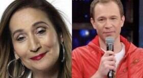 Sonia Abrão atende e põe Tiago Leifert em tapete vermelho