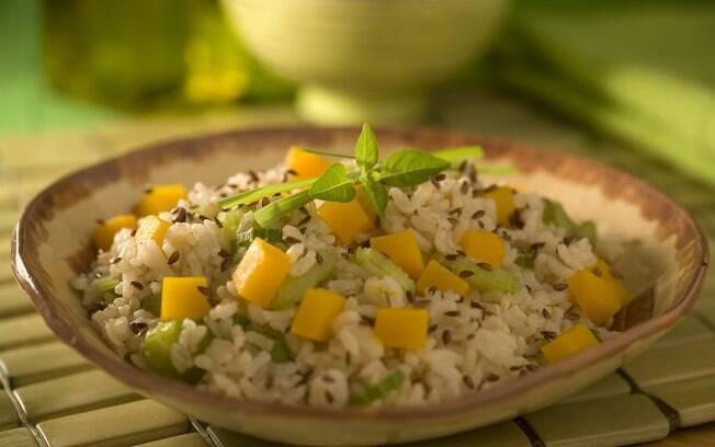 arroz integral com abobora