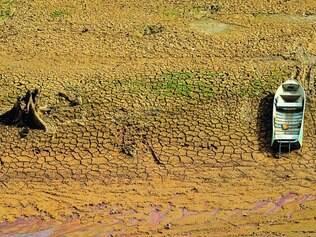 Seca. Jaguari, o maior dos quatro reservatórios do sistema Cantareira