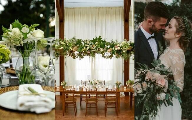 Noivos estão escolhendo mais plantas do que flores para os casamentos, abrindo espaço para a cor verde na decoração