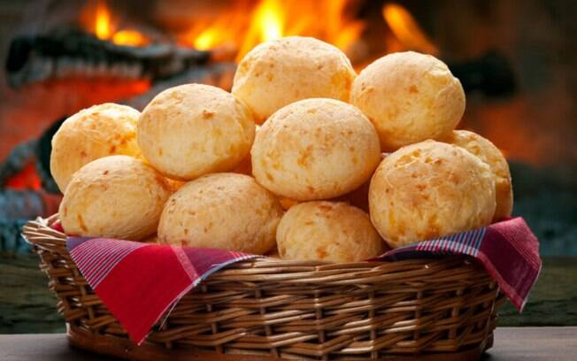 O polvilho é um dos componentes principais do pão de queijo