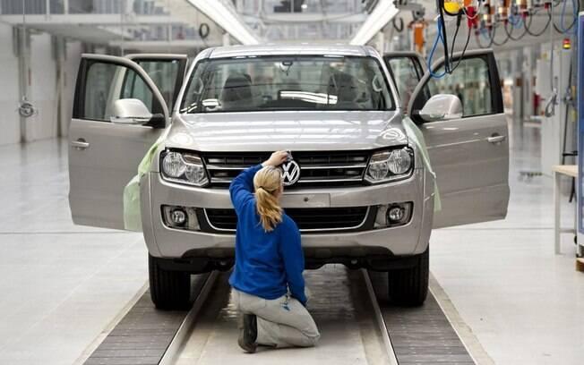 Fábrica da Volkswagen em Pacheco (Argentina).