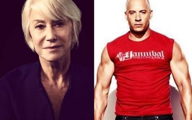 Helen Mirren se encantou por Vin Diesel