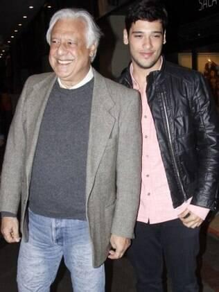 Bruno com o pai, o ator Antonio Fagundes