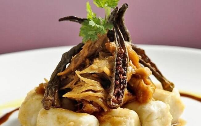 Foto da receita Nhoque de cará com ragu de galinha caipira pronta.