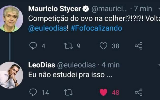 Leo Dias alfineta produção do programa