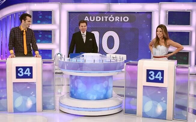 Silvio Santos com Patricia Abravanel e Marcio Ballas