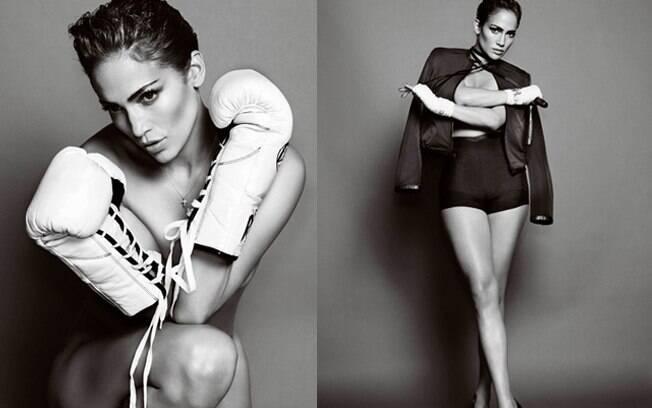 Jennifer Lopez mostrou boa forma ao posar para a capa de Primavera da revista