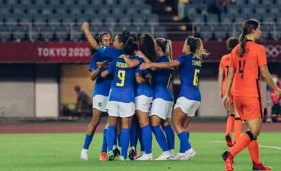 Seleção feminina dá show, mas empata em 3 a 3 com a Holanda
