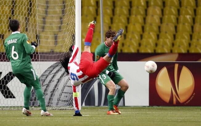Falcao Garcia perde chance: Atlético de Madri  venceu por 1 a 0, mas vaga ficou com o Rubin  Kazan
