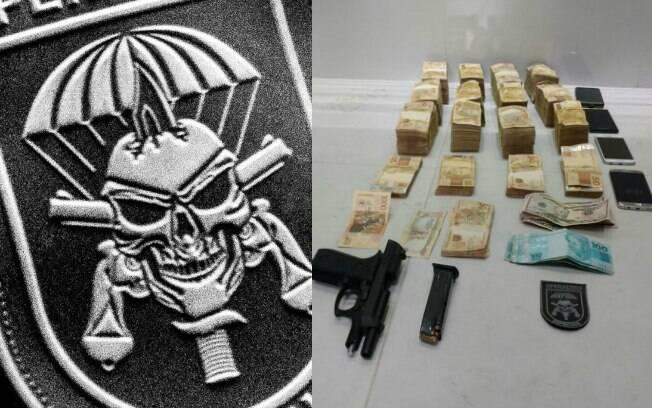 Em operação na Baixada Santista, policiais do Comandos e Operações Especiais encontraram montanha de dinheiro
