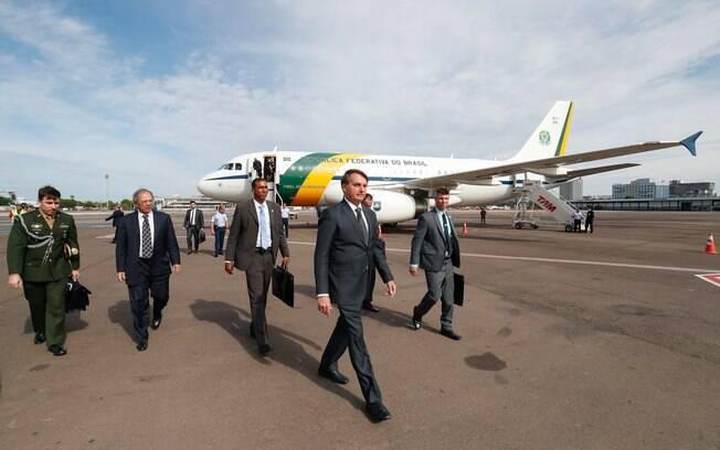 Bolsonaro chegando em Bento Gonçalves