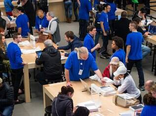 Apple Store em Nova York. Em breve, Apple terá loja também no Brasil