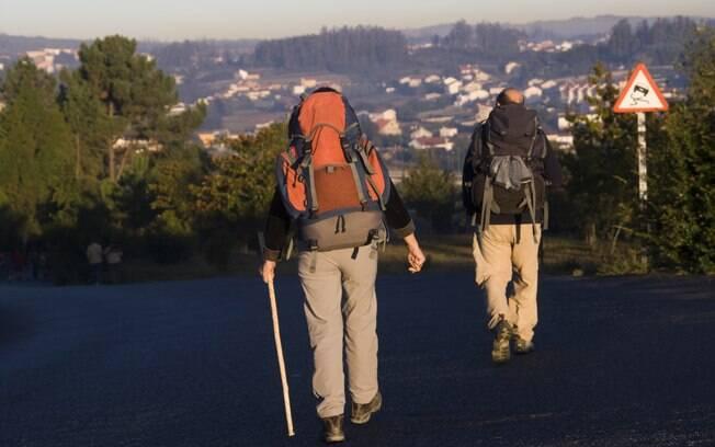 Peregrinos no Caminho de Santiago de Compostela: o mais importante é o trajeto