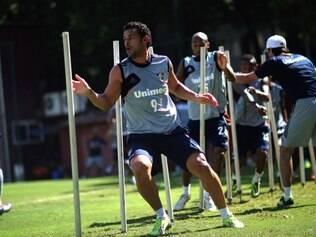 Fred treinou junto com seus colegas e espera estar apto para atuar pelo Fluminense