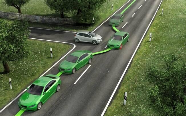 Sistema ESP evita que o carro derrape em mudanças em mudanças repentinas de direção ou em pisos escorregadios