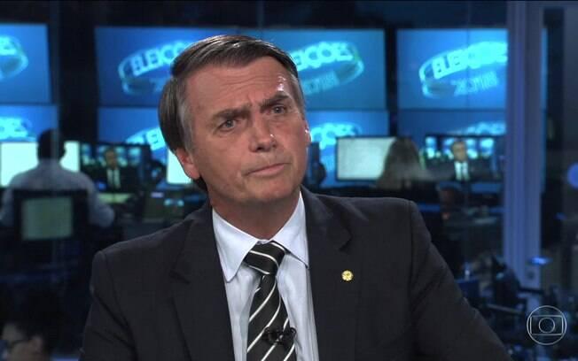 Jair Bolsonaro (PSL) foi o segundo candidato a conceder entrevista no Jornal Nacional, da TV Globo