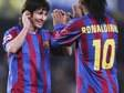 """""""Nunca vou esquecer meu primeiro gol, que teve passe do Ronaldinho"""", diz Messi"""